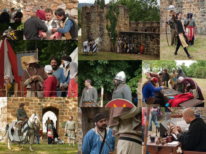 Recreación histórica medieval en el Castillo de Muñatones