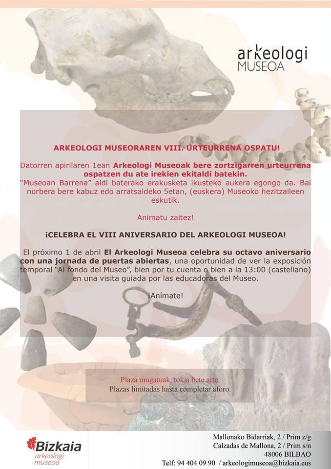 Arkeologi Museoaren VIII. Urteurrena